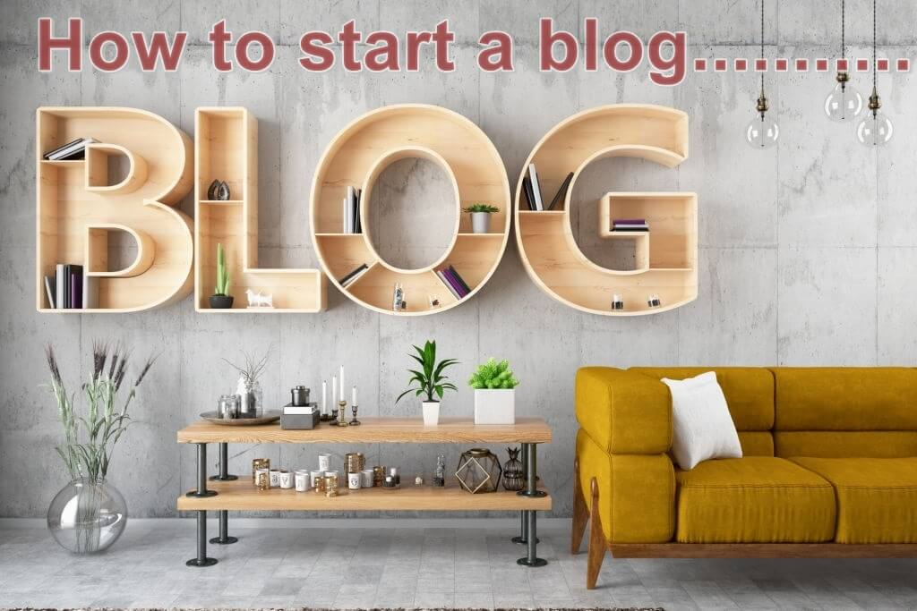 how to start a blog in less then an hour